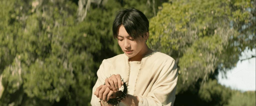 Jungkook barbed hands, the biblical references