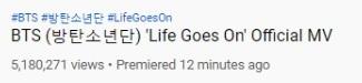 million views Life Goes On MV